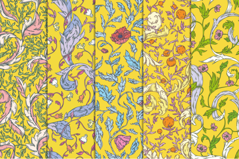 modern-pre-raphaelites-patterns