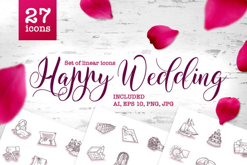 happy-wedding-vector-set-of-line-art-icons
