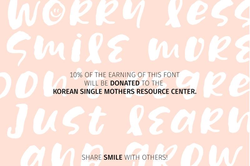 share-smile-brush-font-dingbats