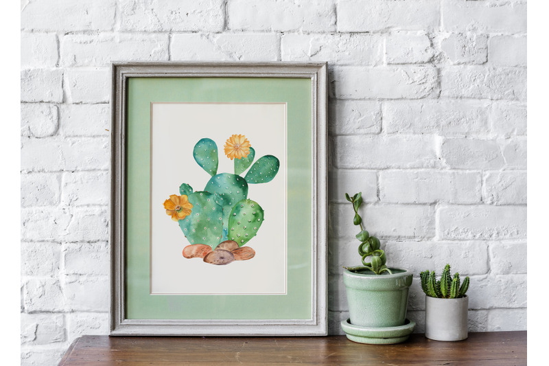 succulents-and-cacti-watercolor-collection