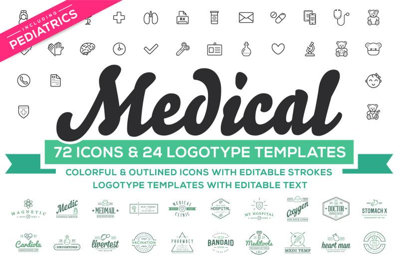 medical-pediatrics-icons-amp-logos-set