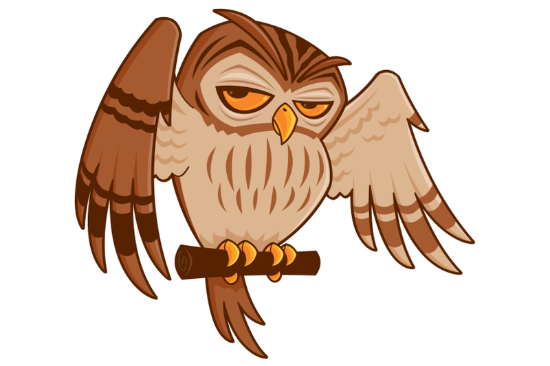 cartoon-owl-on-perch