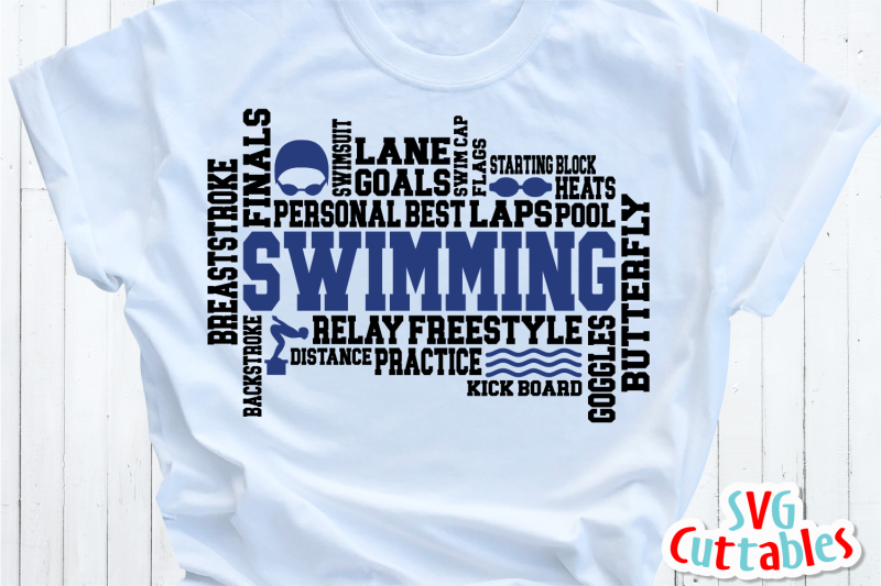 swimming-word-art-cut-file