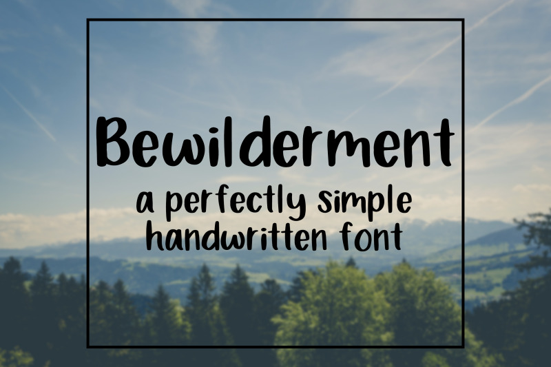 bewilderment-handwritten-font