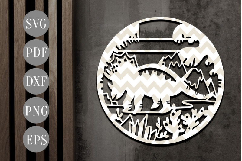 customizable-dinosaur-papercut-template-triceratops-svg-pdf-dxf