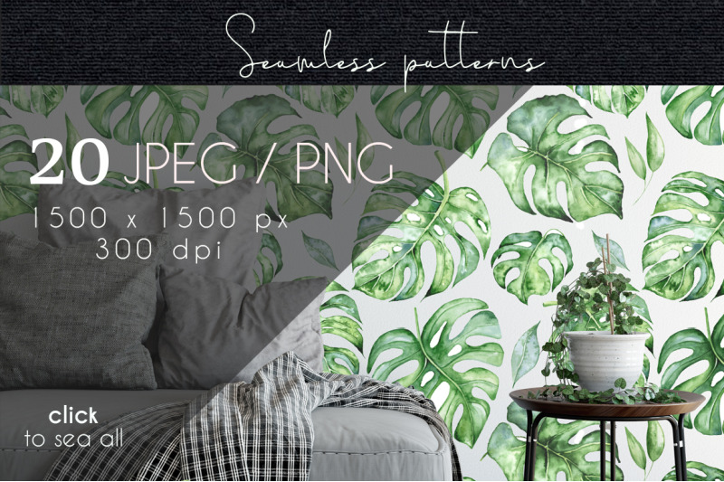 tropical-seamless-patterns