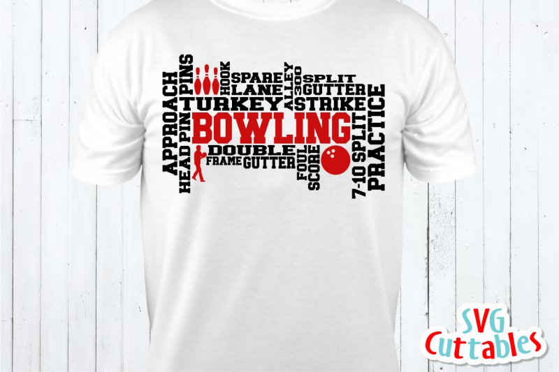 bowling-word-art-cut-file
