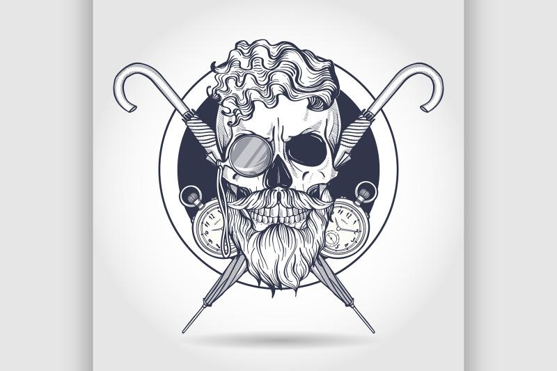 sketch-of-british-skull