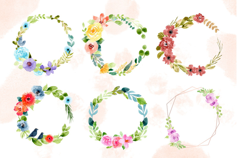 watercolor-floral-wreaths-ii