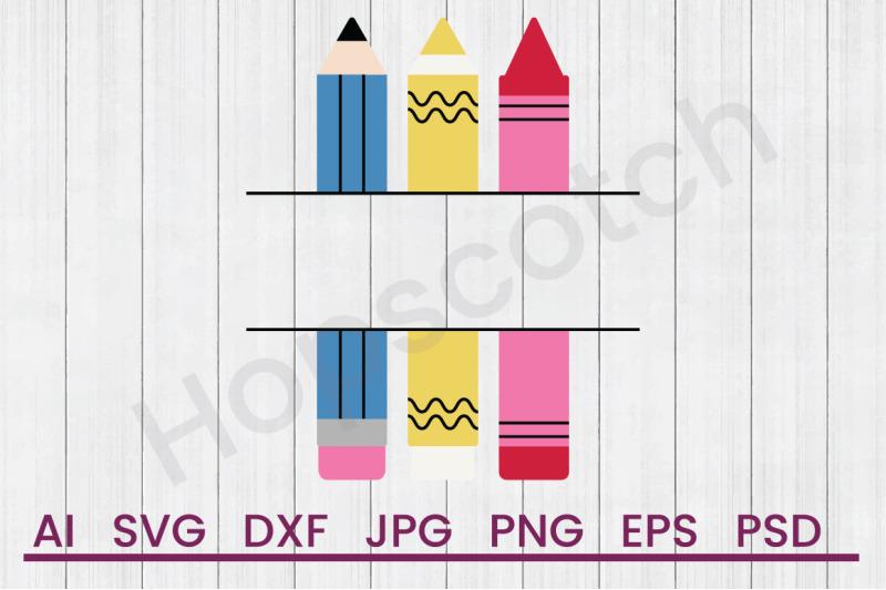 crayon-name-drop-svg-file-dxf-file