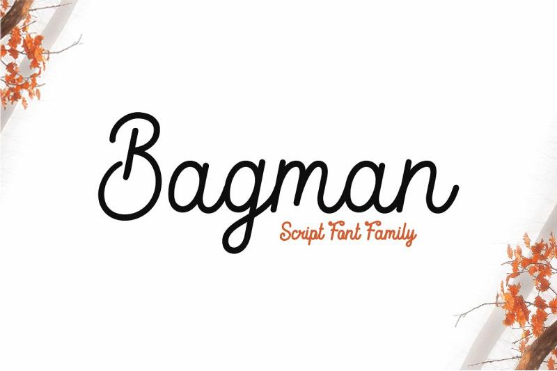 bagman-script-font