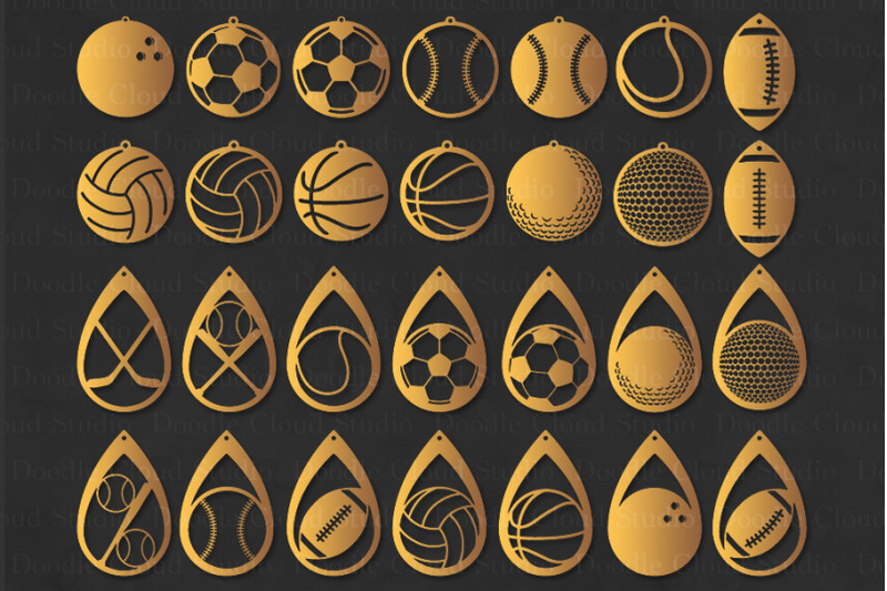 sport-earrings-svg-sport-ball-earring-svg-files-pendant-svg