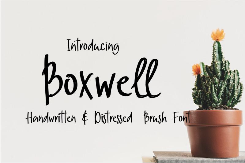 boxwell-brush-font