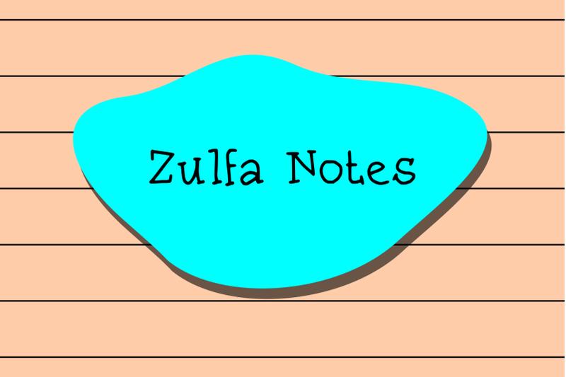 zulfa-notes