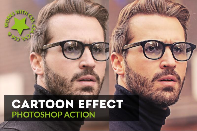cartoon-effect-photoshop-action