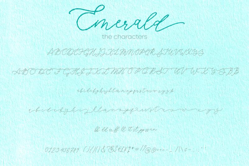 emerald-imperfect-modern-calligraphy-script
