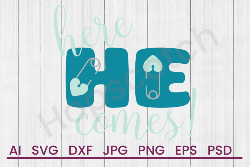 here-he-comes-svg-file-dxf-file