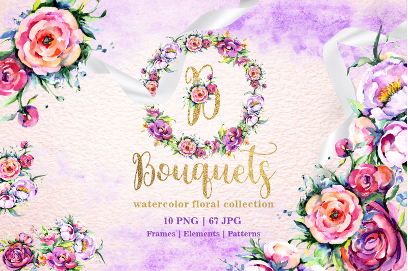 bright-bouquets-watercolor-png