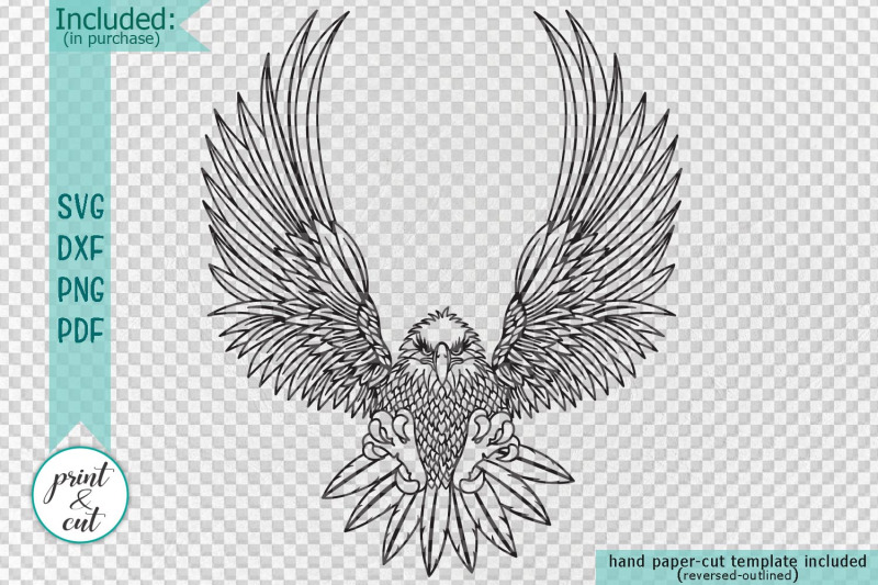 Cut Out Flying Eagle Svg Dxf Pdf Png Cutting Template By Kartcreation Thehungryjpeg Com Supporting what we do with a small donation. cut out flying eagle svg dxf pdf png
