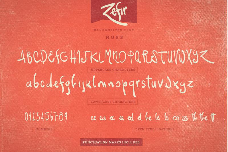 zefir-script-font