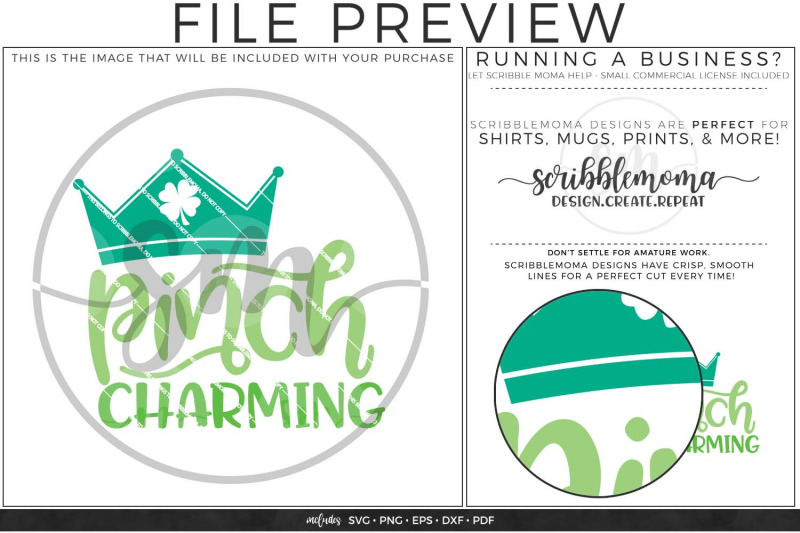 Pinch Charming St Patrick S Day Svg By Scribblemoma Graphics
