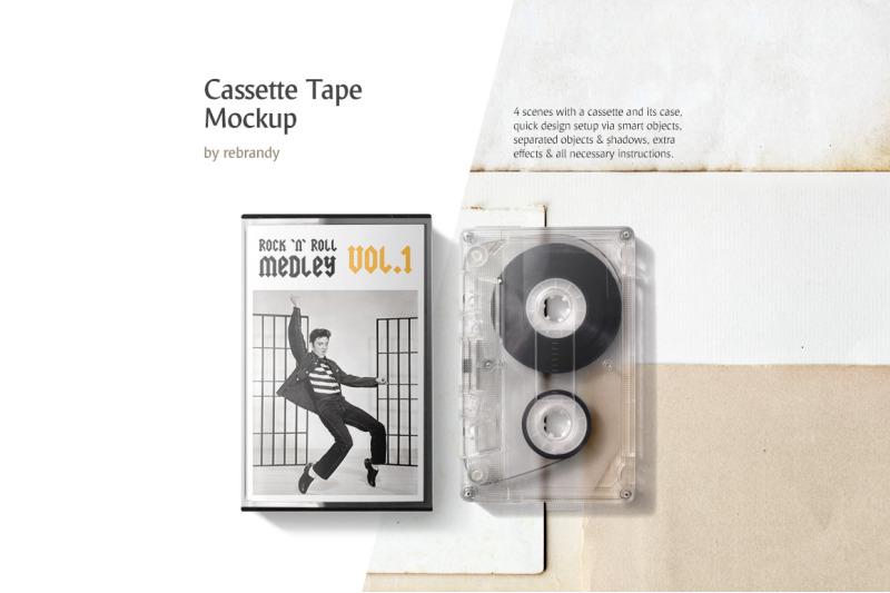 Free Cassette Tape Mockup (PSD Mockups)