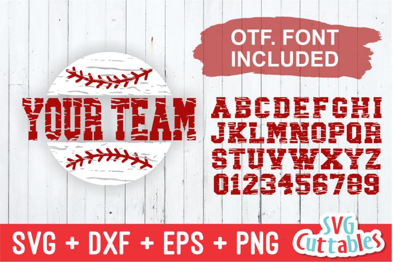 split-baseball-cut-file