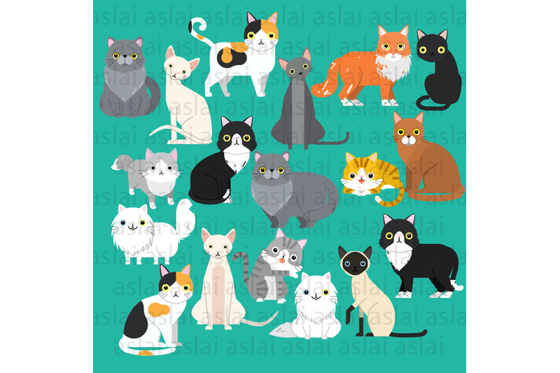 collection-of-cats-illustrations