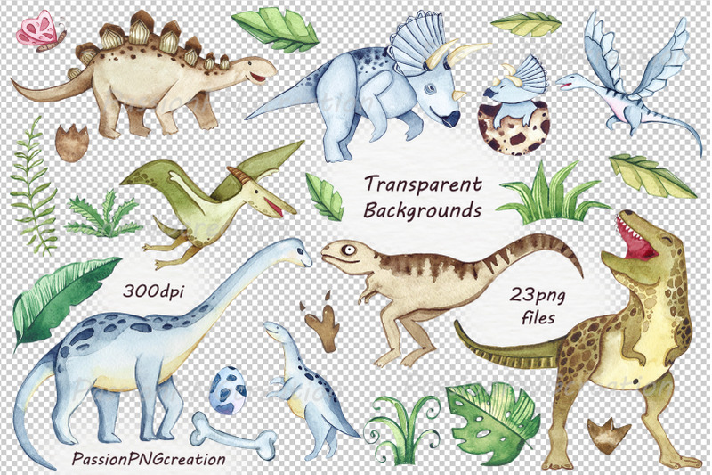 watercolor-dinosaurs-clipart