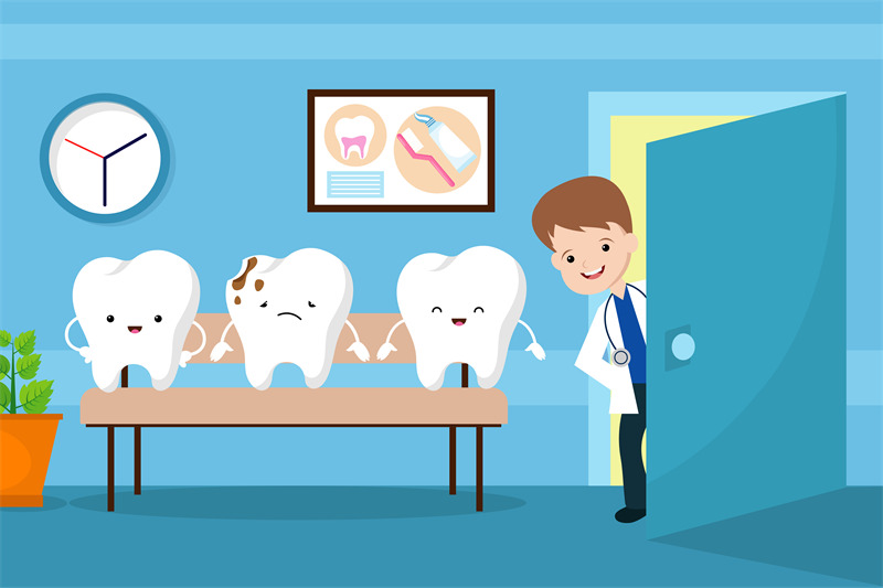 healthy-mouth-vector-kids-concept-teeth-in-dentist-waiting-room