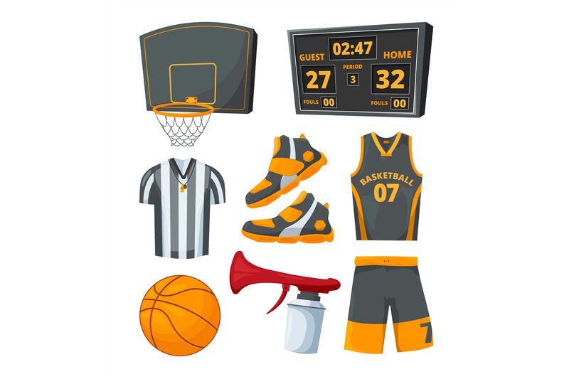 different-sport-symbols-of-basketballs-vector-pictures-set