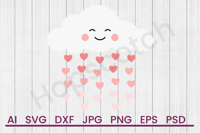 ombre-hearts-cloud-svg-file-dxf-file