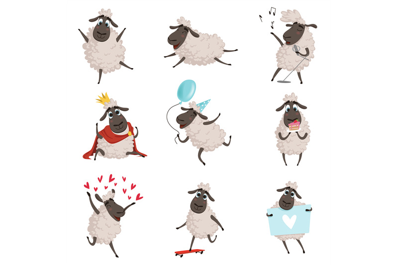 cartoon-farm-animals-sheep-playing-and-making-different-actions-vect