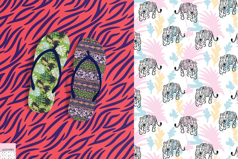 jungle-tiger-seamless-patterns