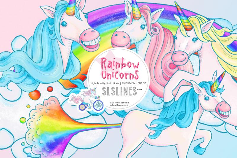rainbow-unicorn-illustrations-png-files