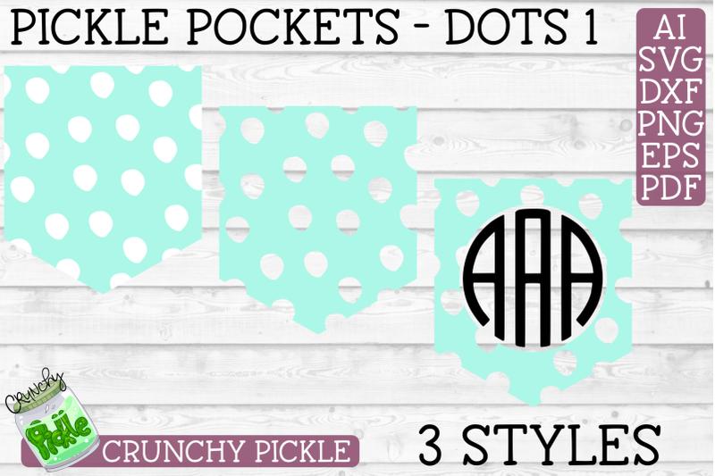 Pickle Pockets Monogram Pocket Dots Svg File By Crunchy Pickle