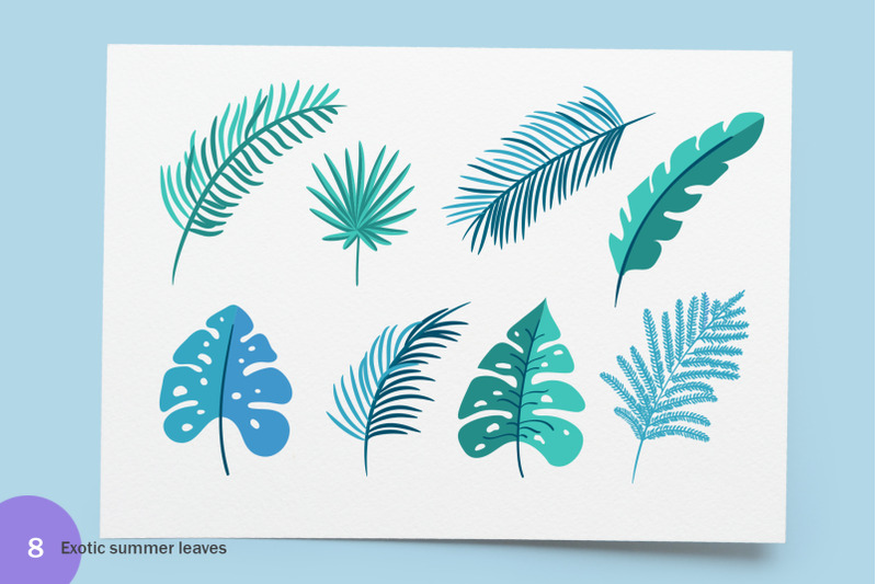 summer-exotic-palm-design-elements-svg