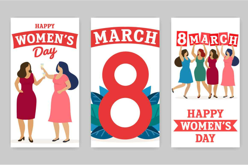 happy-women-039-s-day-vector-collection