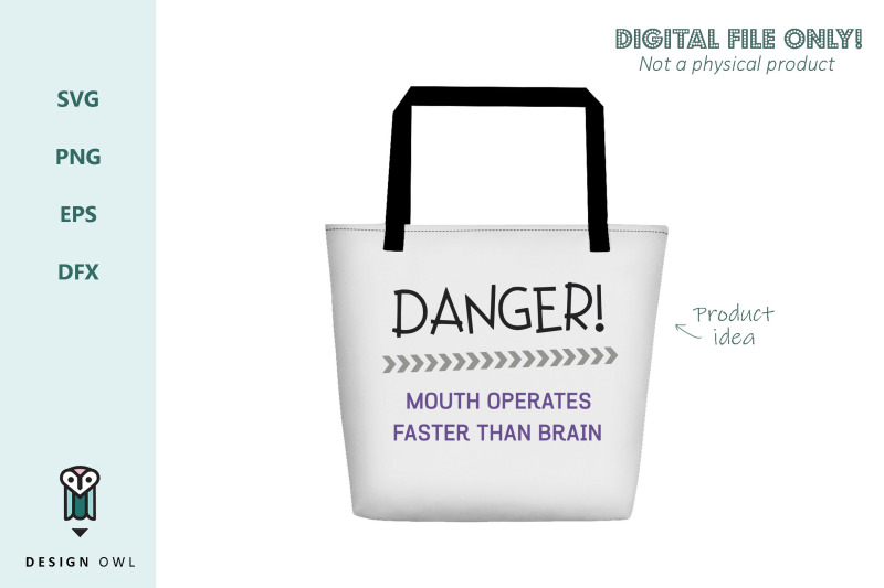 danger-mouth-operates-faster-than-brain-svg-file
