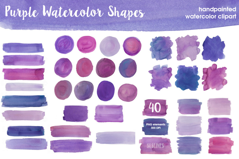 purple-amp-violet-watercolor-shapes-bundle