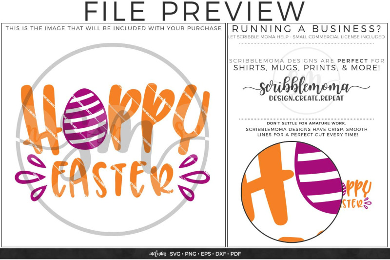 Hoppy Easter Egg Svg Files For Cricut By Scribblemoma Graphics