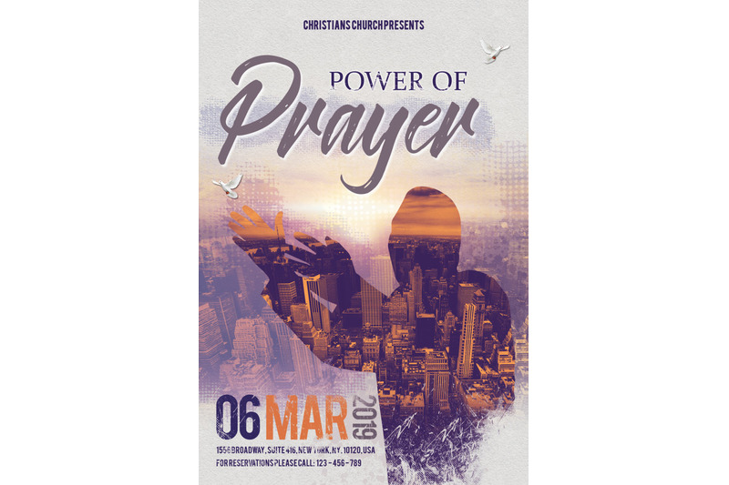 church-power-of-prayer-flyer-poster