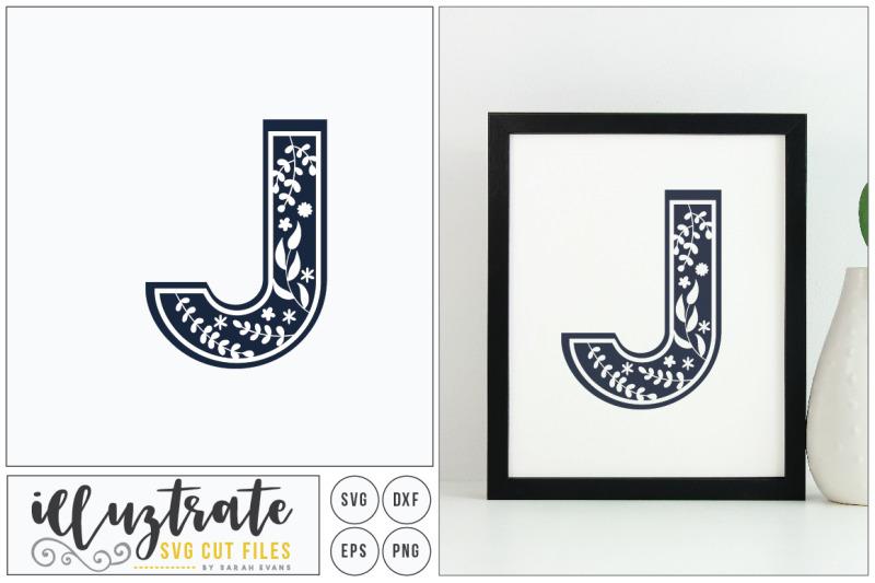 letter-j-svg-alphabet-dxf-cut-files-vector-clipar
