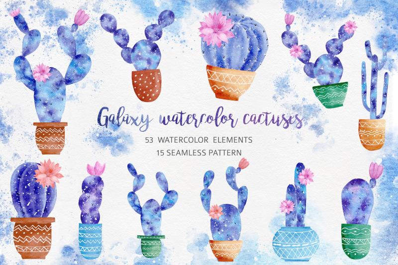 watercolor-galaxy-cactus-collection