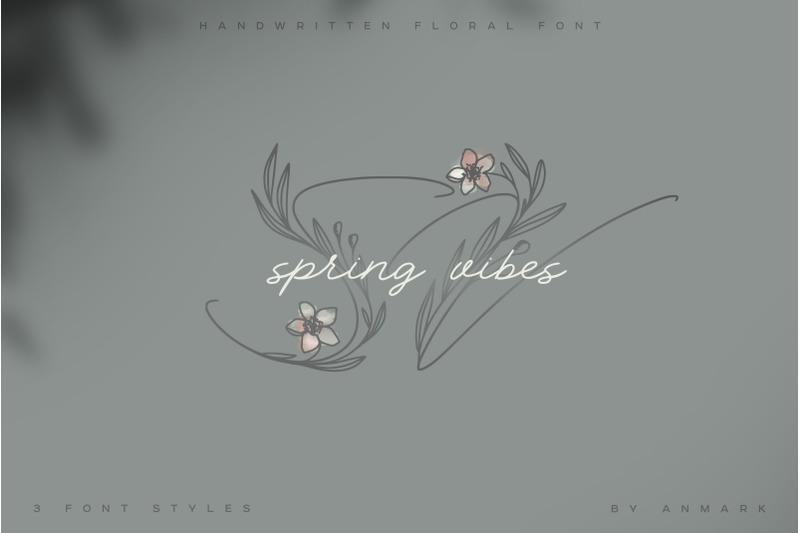 spring-vibes-floral-font