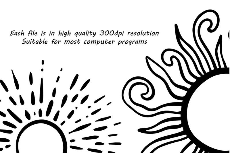 doodle-suns-clipart