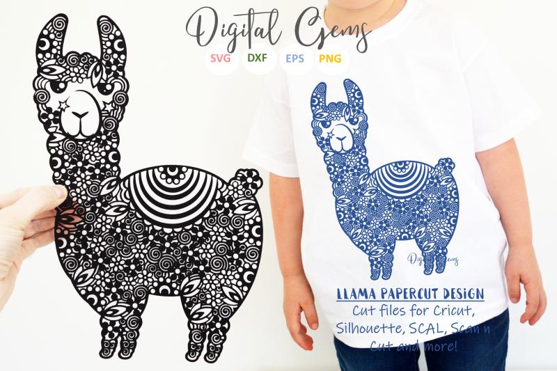 llama-papercut-design