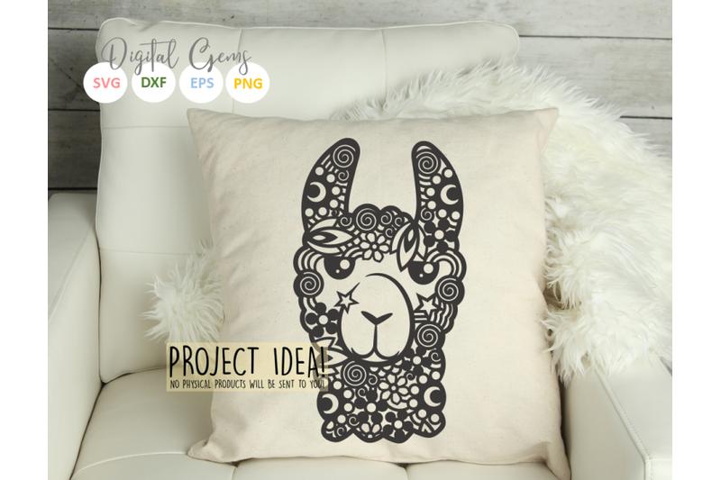llama-face-papercut-design
