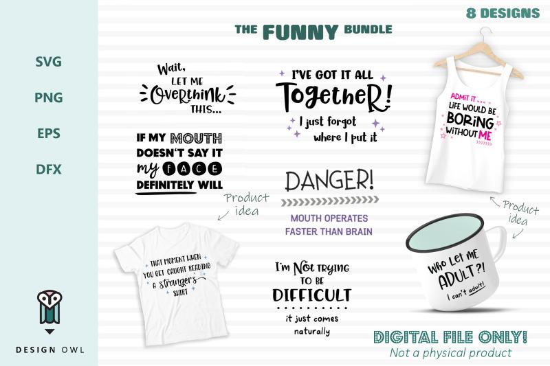the-funny-bundle-8-svg-files