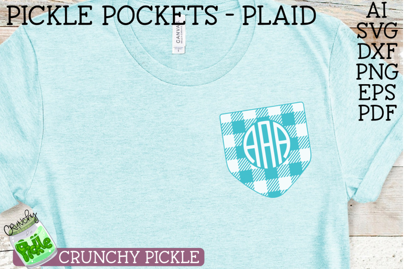 pickle-pockets-monogram-pocket-plaid-svg-file